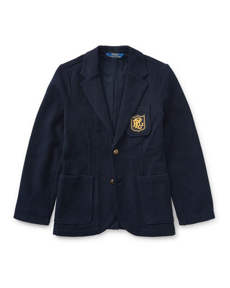 Ralph Lauren Childrenswear Herringbone Knit Blazer, Size 5-7