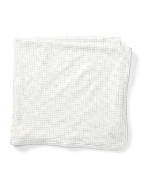 Ralph Lauren Childrenswear Tattersall Cotton Baby Blanket, Multi