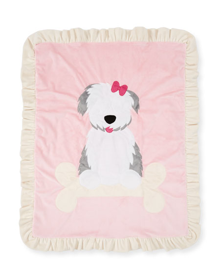Puppy Love Plush Baby Blanket, Pink