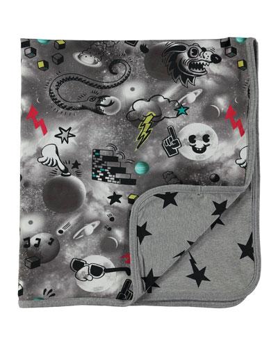 Niles Reversible Space Blanket, Gray