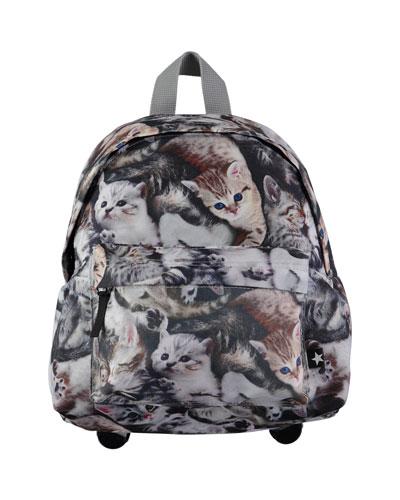 Kids' Big Cat Backpack, Gray