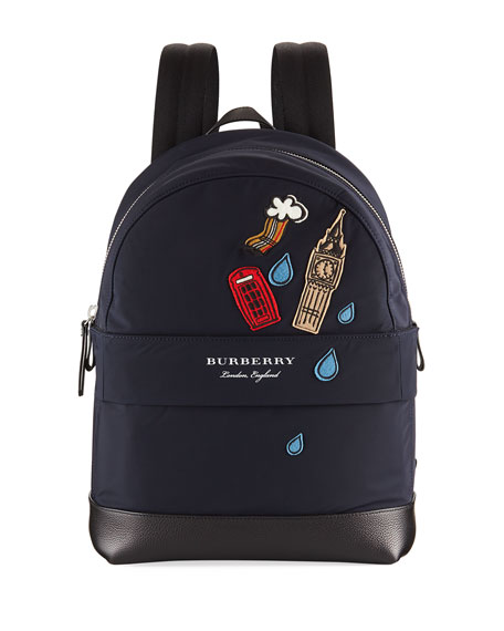 Burberry Nico London Patches Backpack