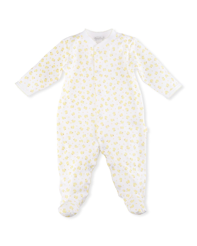 9566fc7e5124 Kissy Kissy Duck Printed Footie Pajamas
