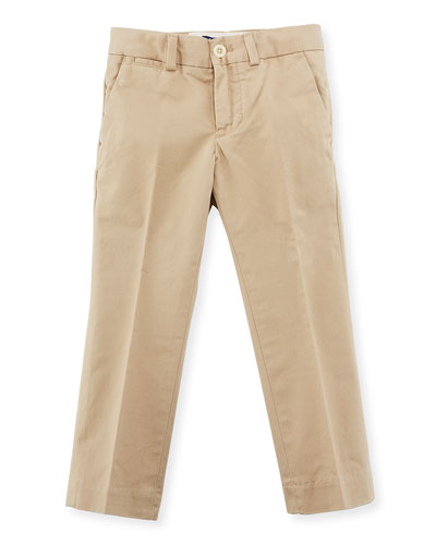 Straight-Leg Stretch Chino Pants, Size 2-7
