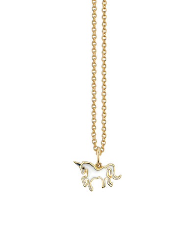 Girls' 14k Gold Unicorn Pendant Necklace
