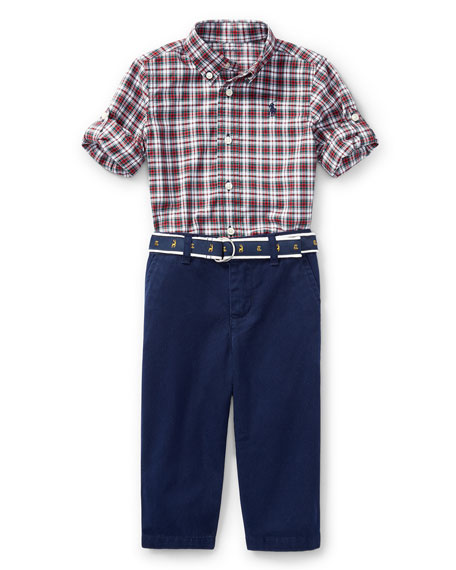 Ralph Lauren Childrenswear Poplin Tartan Shirt & Pants