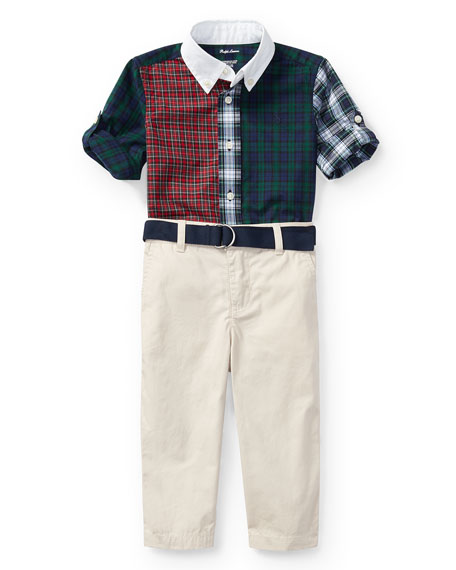 Ralph Lauren Childrenswear Poplin Tartan Shirt & Pants