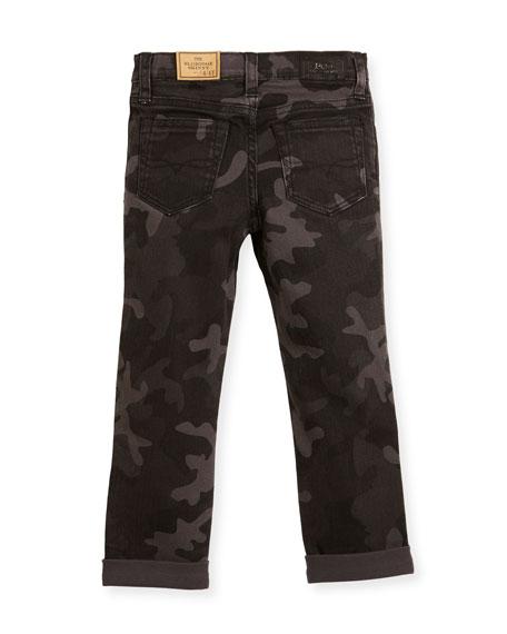 Denim Camo Skinny Jeans, Size 2-4