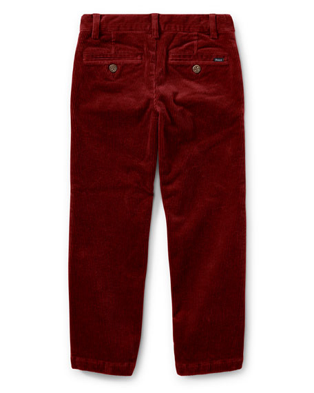 Suffield 10-Wale Corduroy Pants, Red, Size 2-4