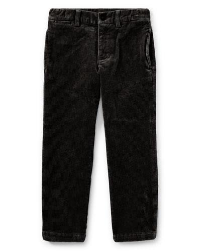 Suffield 10-Wale Corduroy Pants, Black, Size 2-4