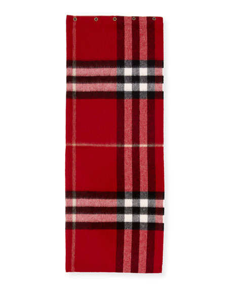 Burberry Kids' Cashmere Check Snood, Red