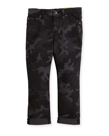 Ralph Lauren Childrenswear Denim Camo Skinny Jeans, Size