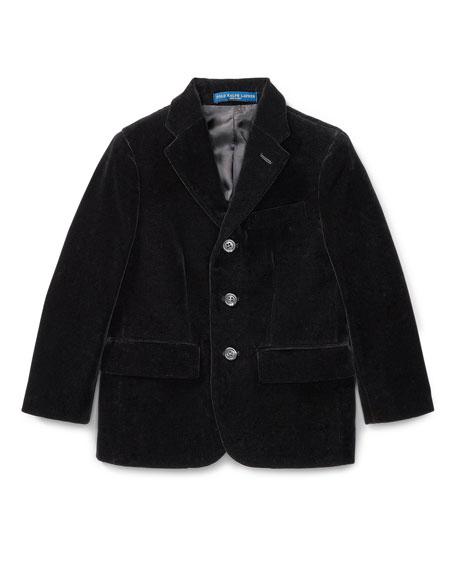Ralph Lauren Childrenswear Polo II Velvet Blazer, Size