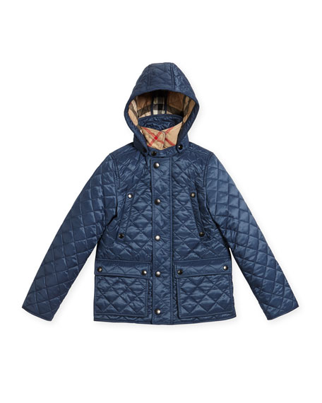 Charlie Quilted Jacket, Blue, Size 4-14