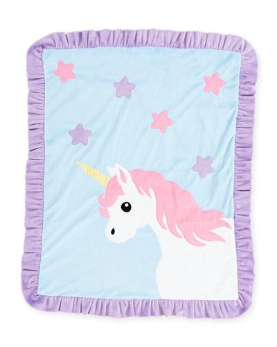 Unicorn Plush Baby Blanket