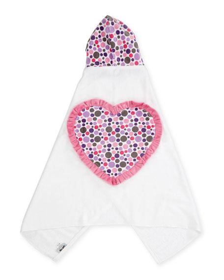 Ruffle Heart Hooded Bath Towel