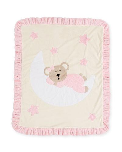 Goodnight Teddy Baby Blanket, Pink