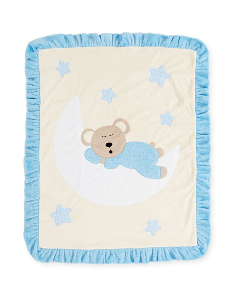 Boogie Baby Goodnight Teddy Baby Blanket, Blue