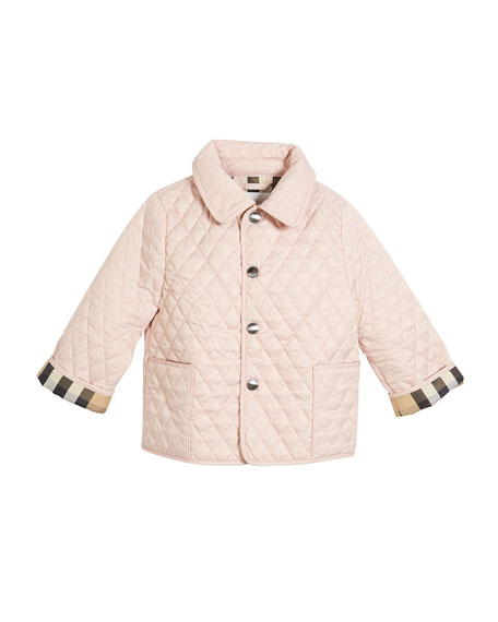 Colin Quilted Collared Jacket, Light Blue, Size 6-24 Months
