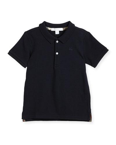 Palmer Short-Sleeve Polo Shirt, Navy, Size 6M-3Y