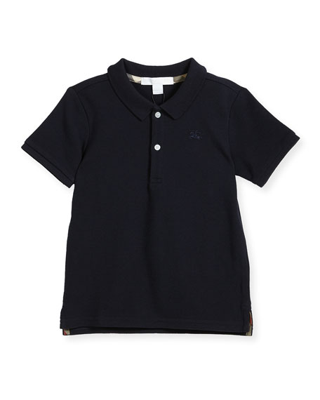 Palmer Short-Sleeve Polo Shirt, Navy, Size 6M-3Y