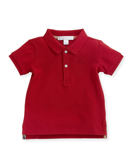 Burberry Palmer Short-Sleeve Polo Shirt, Red, Size 6M-3Y