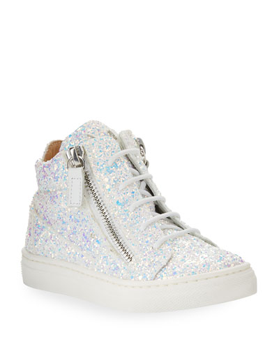 Mattglitt Hitop Glitter High-Top Sneaker, Infant/Toddler Sizes 6M-9T