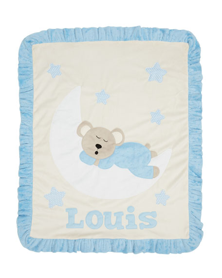 Boogie Baby Goodnight Teddy Baby Blanket, Blue