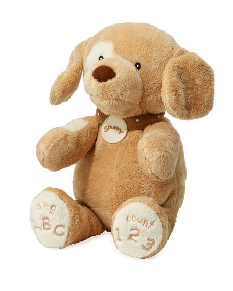 ABC 123 Spunky Dog Stuffed Animal, 14""