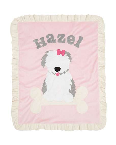 Puppy Love Plush Blanket, Pink