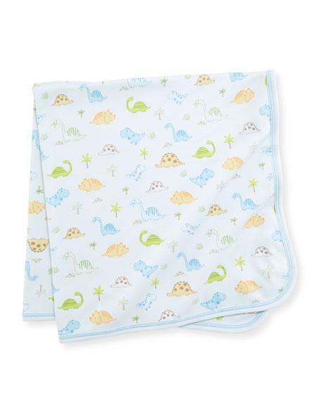 Kissy Kissy Dino Dudes Pima Baby Blanket