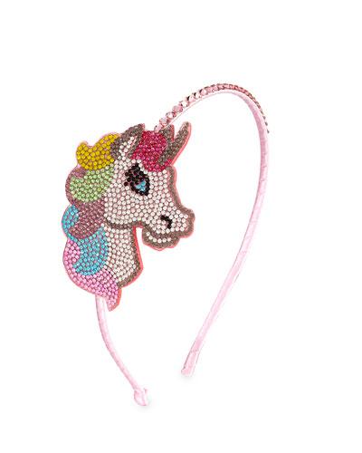 Girls' Crystal Unicorn Headband