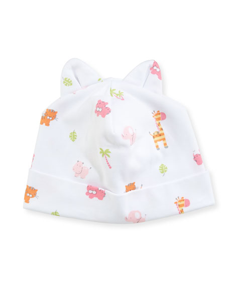 Safari Stroll Pima Baby Hat w/ Animal Ears