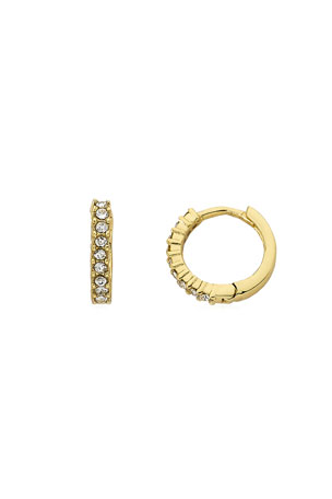 LMTS Girls' Crystal Hoop Earrings