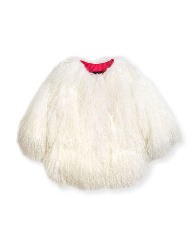 Lamb Fur Jacket, Size 2T-12Y