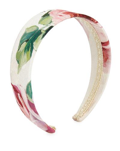 Girls' Floral-Print Headband