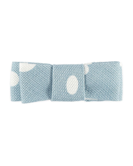 Girls' Polka-Dot Cotton Hair Clip