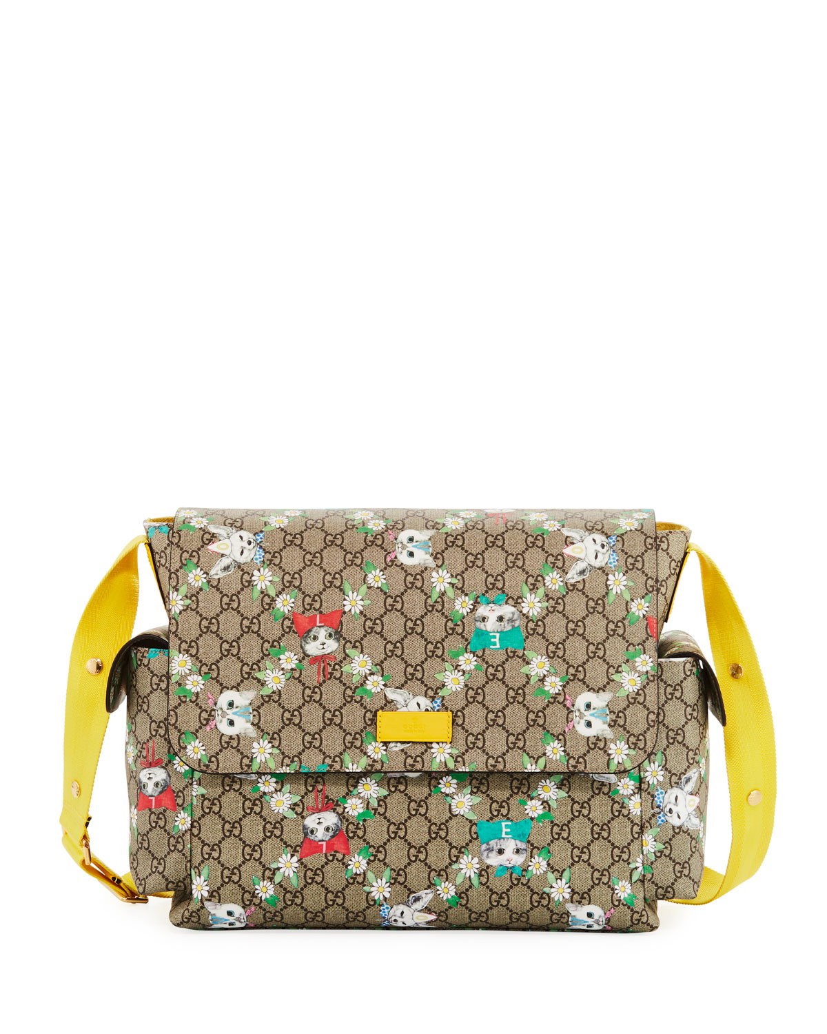 0cc6dca1e6f Gucci Borsa Mamma GG Supreme Canvas Cats Diaper Bag w  Changing Pad ...