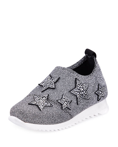 Giuseppe Zanotti Natalie Sparkle Star Sneaker, Youth and
