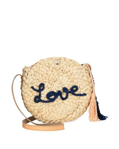 Girls' Love Straw Crossbody w/ Tassels