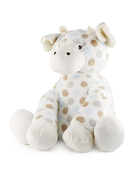 Little Giraffe Big G?? Plush Polka-Dot Giraffe, Blue