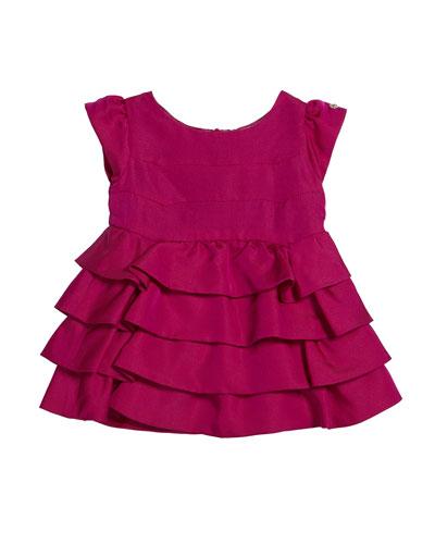 Girl's Cap Sleeve Ruffle Dress  Size 3