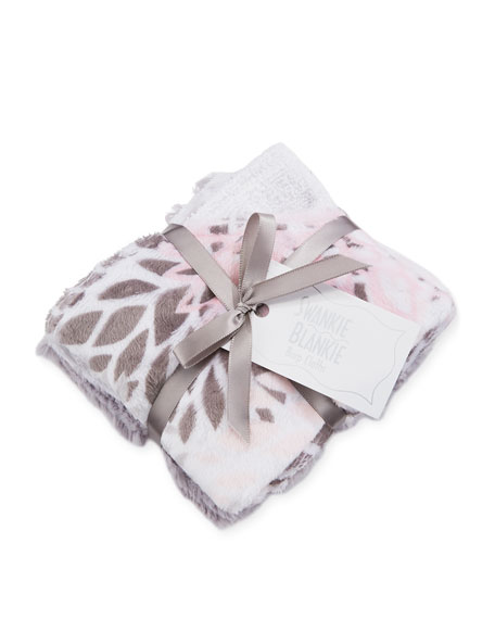 Swankie Blankie Blooms Burp Cloth Set, Pink