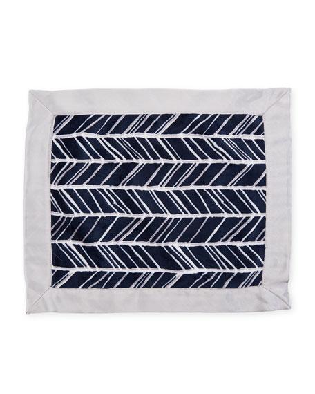 Swankie Blankie Herringbone Security Blanket, Navy