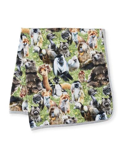 Niles Animal-Print Baby Blanket