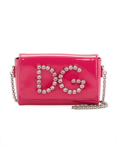 Dolce & Gabbana Girls' DG Rhinestone Shoulder Bag