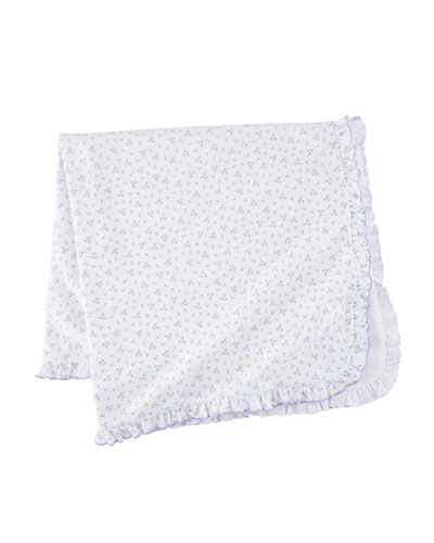 Little Girls Dreams Floral Pima Baby Blanket