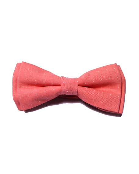 Fore Boys' Dot Bow Tie, Pink