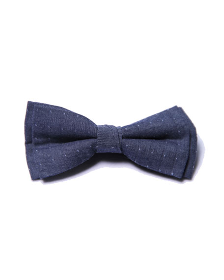 Fore Boys' Dot Bow Tie, Blue