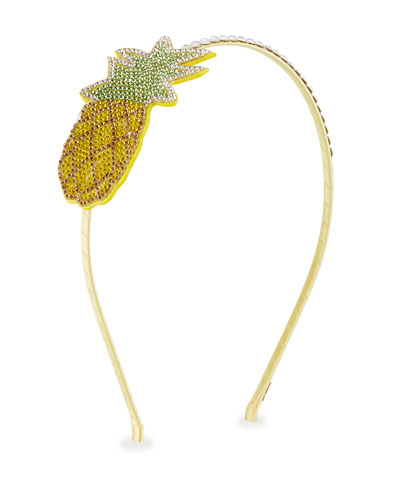 Girls' Crystal Pineapple Headband